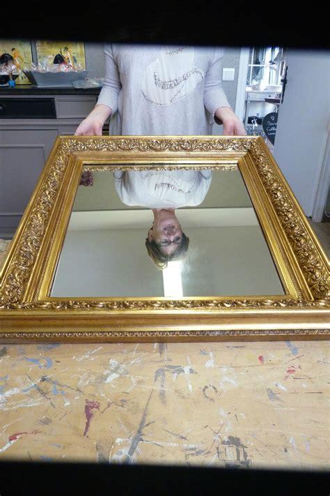 peindre un miroir dore nipeze