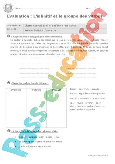 premiere classe chambre infinitif groupe des verbes cm1 evaluation bilan