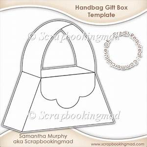 handbag gift box template cu ok gbp350 scrapbookingmadcom With handbag gift box template