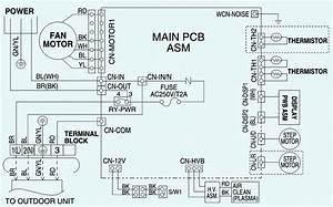 Lg Wiring Diagram  Models  As W096e1g0  U2013 As W126e1g0  U2013 As W2465dh2 Indoor Unit