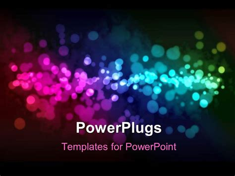 Powerplugs Templates For Powerpoint by Powerpoint Template A Number Of Multicolored Dots In The