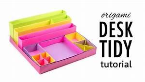 Origami Desk Organizer Boxes Tutorial ♥︎ DIY ♥︎ Paper
