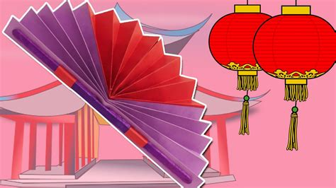how to make a chinese fan learn how to make a chinese fan easy diy paper fan craft