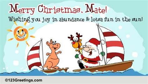 merry christmas mate  summer ecards greeting cards
