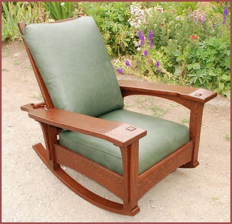 Stickley Morris Rocking Chair by Voorhees Craftsman Mission Oak Furniture Stickley