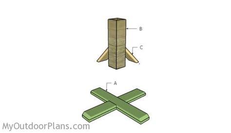 christmas tree stand plans myoutdoorplans free