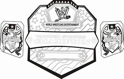 Belt Wrestling Drawing Wwe Coloring Pages Drawings