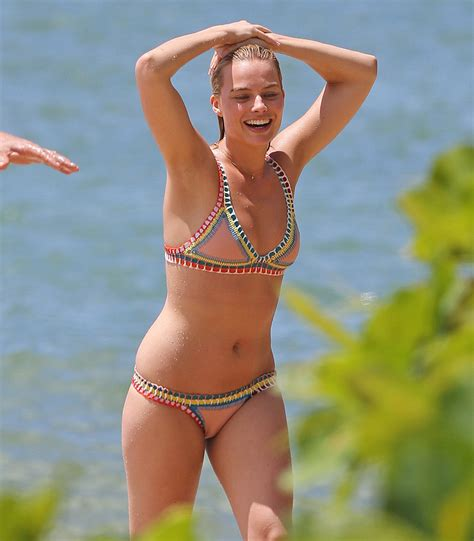 Margot Robbie In Colorful Bikini In Hawaii 7 New Pics