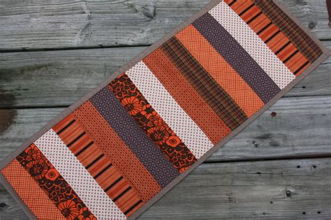 fall table runners to make stitching under oaks fall table runner
