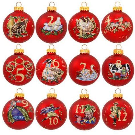 twelve days of christmas 12 piece ornament set novelty