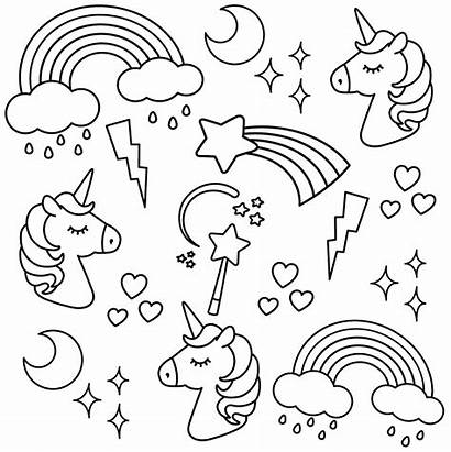 Unicorn Colouring Coloring Pages Printable Printables Kid