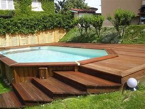 piscine bois With liner piscine hors sol octogonale bois 3 piscine hors sol bois rectangulaire 200x350cm ocea liner