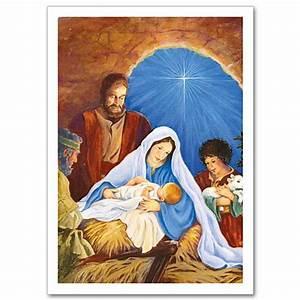 Mary, Joseph, Baby Jesus and Shepherds: Christmas Card