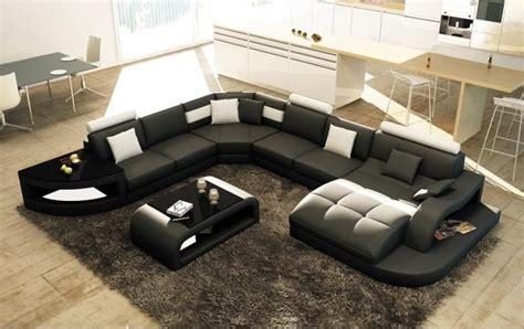 cdiscount canap angle canapé d 39 angle design panoramique istanbul noir et blanc