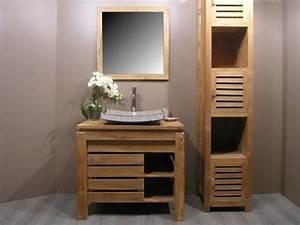 Meuble salle de bain zen bois for Meuble salle de bain zen bois