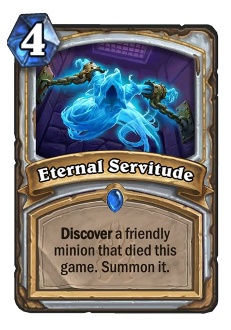 Priest Deck Hearthstone Frozen Throne by Eternal Servitude Hearthstone Card