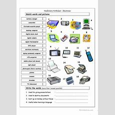 Vocabulary Matching Worksheet  Electronics Worksheet  Free Esl Printable Worksheets Made By