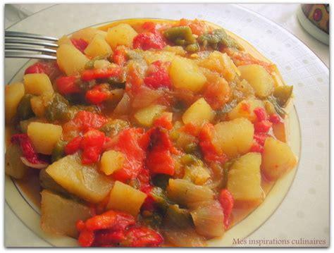 ratatouille de poivrons tomates et pommes de terre en