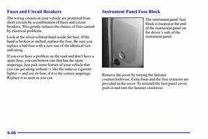 Chevy Blazer 1995-2005 Fuse Box Location And Diagram