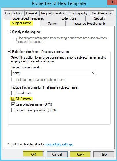 setup microsoft active directory certificate