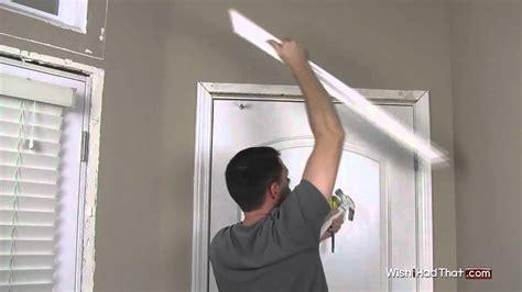 how to replace a door removing door trim molding in 60 secs