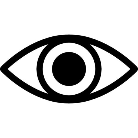 simple eye clipart black and white eye variant with enlarged pupil icons free
