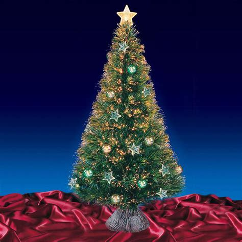 Fibre Optic Christmas Tree 6ft by Beautiful 6ft 180cm Green Fibre Optic Christmas Tree With