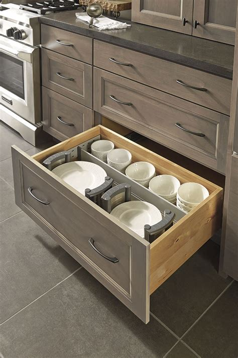 drawer dividers  plate holders decora cabinetry