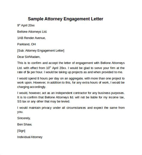 Engagement Letter Template by 9 Sle Engagement Letters To Sle Templates
