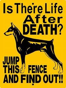 doberman pinscher dog sign 9x12 aluminum