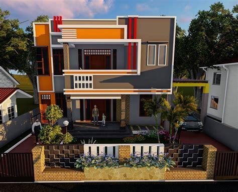 contoh rumah minimalis  lantai  atap genteng