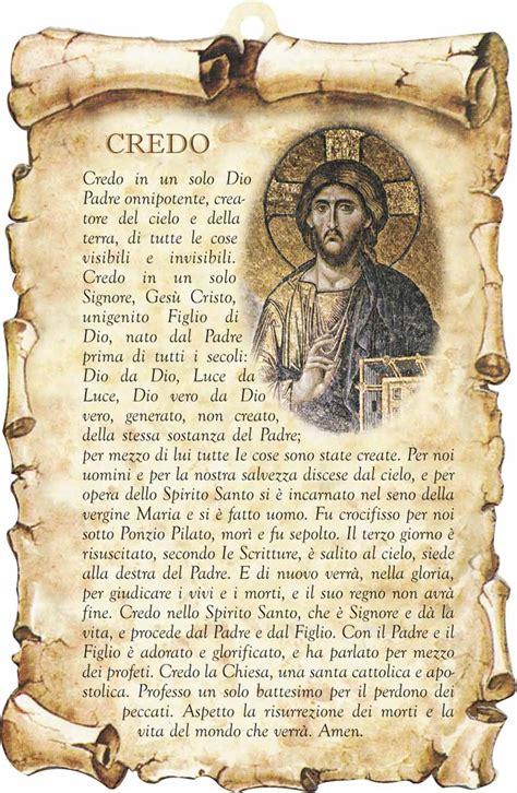 Preghiera Credo Testo by Tavoletta Sagomata Credo In Legno Sintetico Articoli
