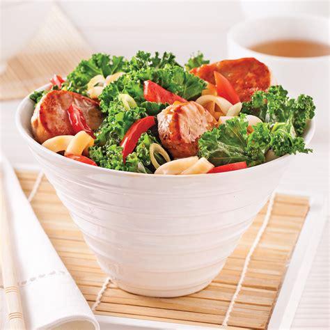 saut 233 de porc au chou kale et poivron recettes cuisine et nutrition pratico pratique