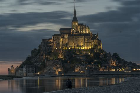 night castle cloudy light river  image peakpx