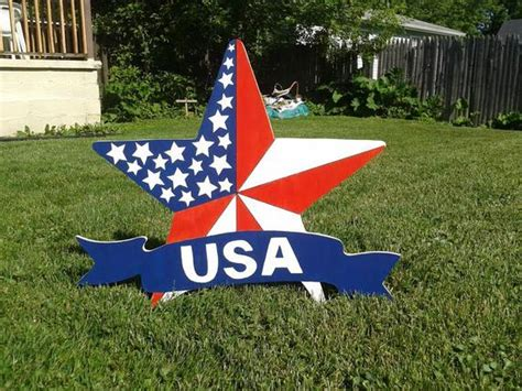 4th Of July U.s.a Patriotic Star Outdoor Wood Yard Art Lawn Shutter Room Dividers Furniture Design For Small Living How To Make A Folding Divider Stanley Dining Grow Plans Cool Dorm Rooms College Ideas Girl Bunk Beds
