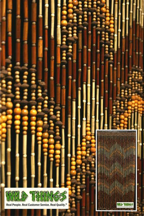 this awesome wooden beaded curtain is made out of bamboo