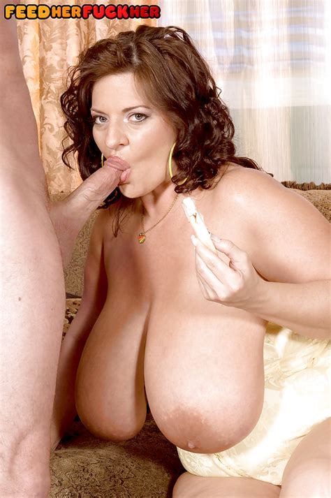 chesty milf maria moore engaging in food play during hardcore sex