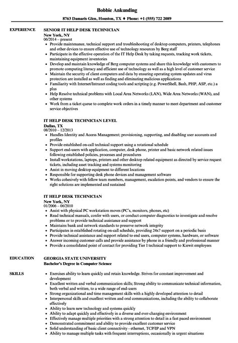 Resume Help by It Help Desk Technician Resume Sles Velvet