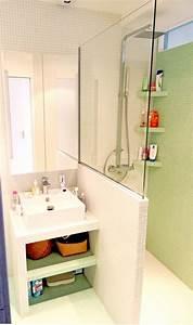 Douche Petit Espace : petite salle de bain 34 photos id es inspirations ~ Voncanada.com Idées de Décoration