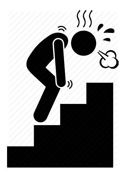 Icon Exhausted Tired Breath Stairs Vectorified