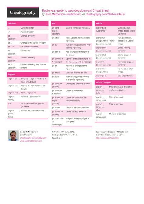 beginners guide  web development cheat sheet