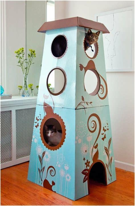 Möbel Aus Pappe Selber Machen by Katzenhaus Selber Bauen 40 Preisg 252 Nstige Und Praktische