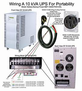 Wiring A 10 Kva Ups For Portability  U2013 Battery Backup Power