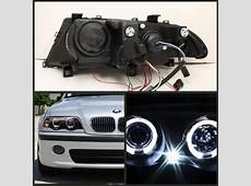 199901 BMW E46 3Series Black LED Halo 1PC Projector