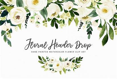 Watercolor Flower Clip Clipart Graphic Floral Flowers