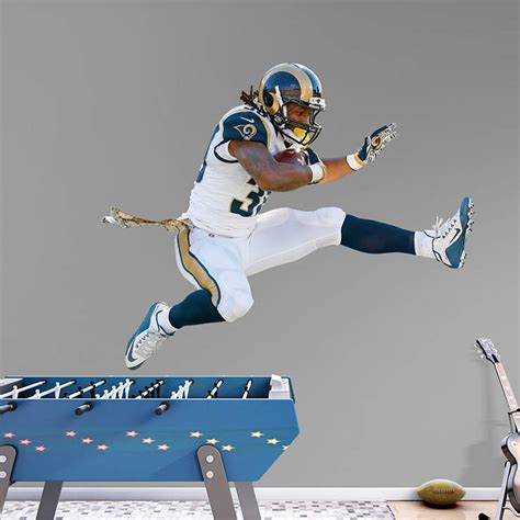 life size todd gurley hurdle wall decal shop fathead
