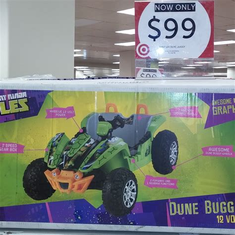 ninja turtle 12v dune buggy ride on for 99 in target