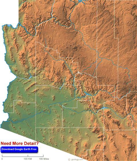 Arizona Map And Arizona Satellite Images