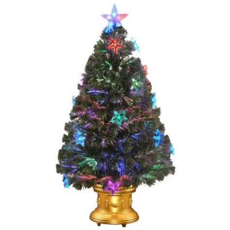 home depot fiber optic christmas tree national tree company 36 in fiber optic fireworks artificial tree with