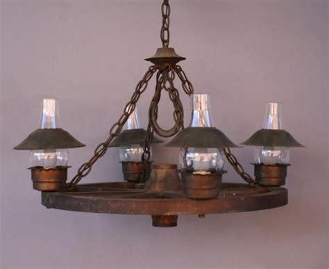 sold lb 3984 wagon wheel chandelier w glass hurricane